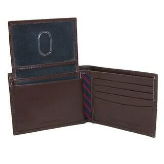 Tommy Hilfiger Men's Leather Ranger Passcase Billfold Wallet - One Size