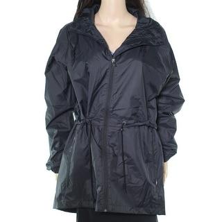 Columbia Women's Jacket Black Size Large L Full-Zip Hoodie Raincoat