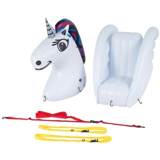 Stand Up Floats Inflatable Stand-Up Paddle Board Float SUP Accessory Set- Unicorn Head & Tail with Child Seat - White