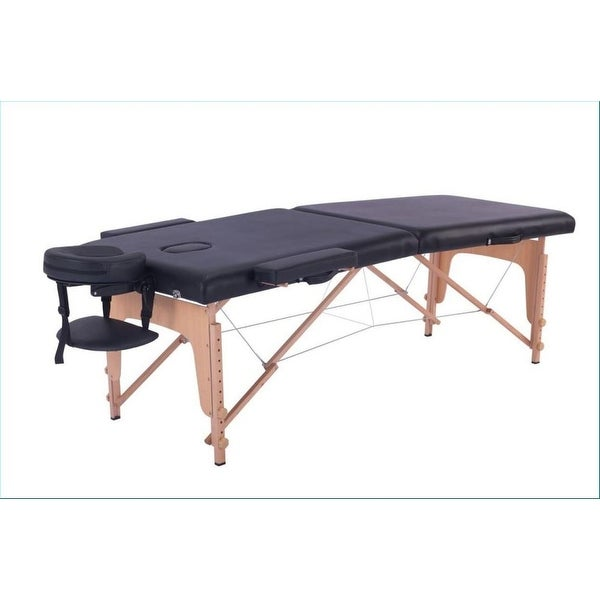 """Atelier Du Nord- Foldable 2 Section Wooden Massage Table - 73x28x2.5"""". Opens flyout."""