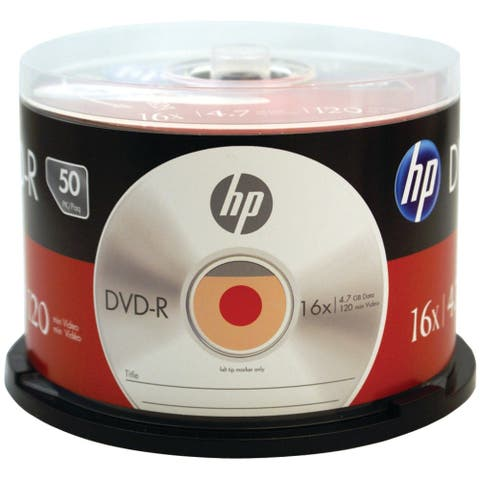 Hp 4.7gb 16x Dvd-r (50-ct Cake Box Spindle)