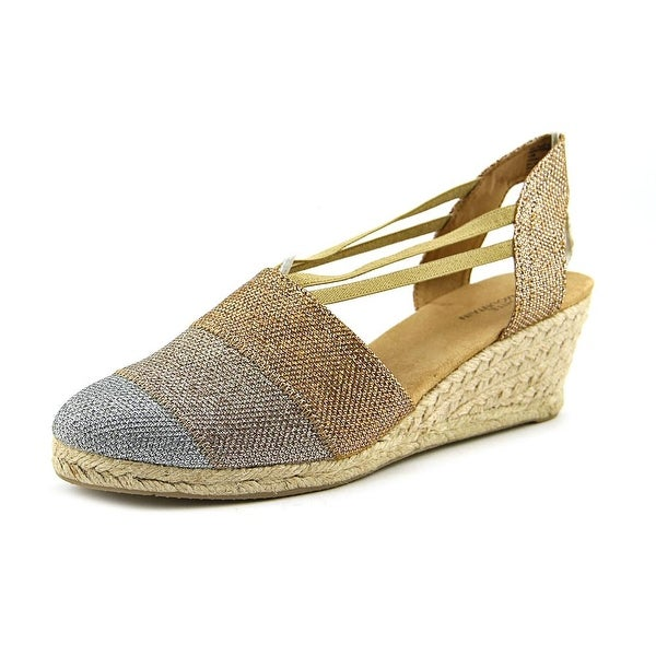 White Mountain Supreme Women W Round Toe Canvas Bronze Espadrille