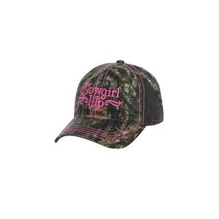 Cowgirl Up Western Hat Womens Baseball Adjustable OS Camo CGH5112