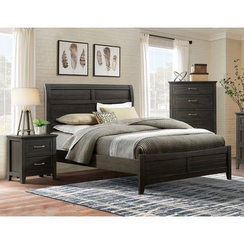 Furniture of America Inyx Transitional Walnut 3-piece Bedroom Set