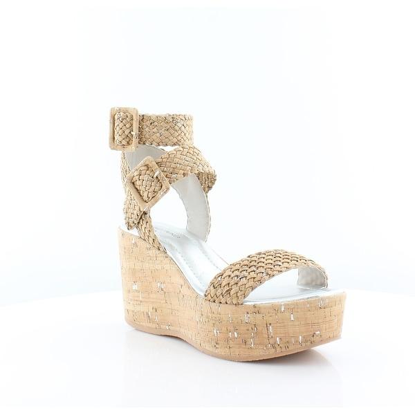 Donald J Pliner Cyndi Women's Heels Natural-Silver Distressed Metallic Cork - 9