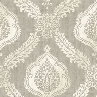 Brewster 2618-21304 Zoraya Taupe Damask Wallpaper