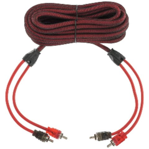 "3"" Red and Black Outdoor Marine DS18 Advance Ultra Flex RCA Cable 20-Ft"