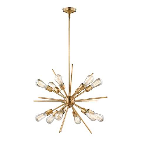 Estelle Natural Brass Mid-Century Modern Sputnik Pendant