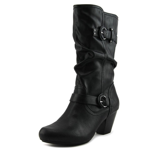 Rialto Coras Round Toe Leather Mid Calf Boot