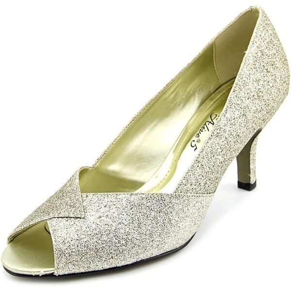 Easy Street Ravish WW Peep-Toe Synthetic Heels
