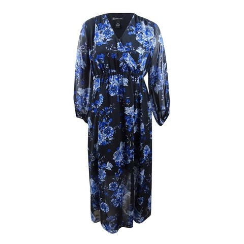 INC International Concepts Women's Plus Floral Maxi Dress
