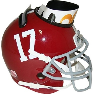 check out ac93a 8ecf1 Alabama Crimson Tide 17 NCAA Football Schutt Mini Helmet Desk Caddy