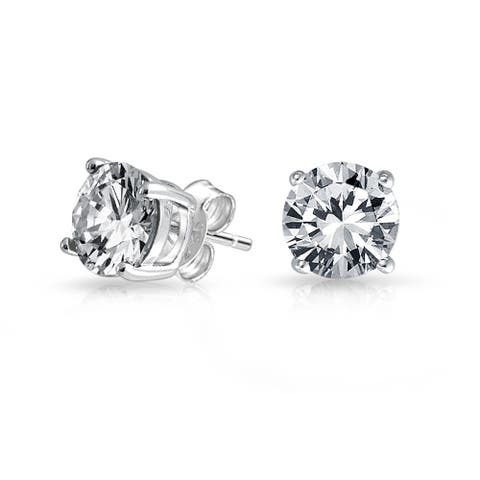 619860412 6 CT Brilliant Cut Round Solitaire Stud Earrings For Women For Men For  Girlfriend 4 Prong
