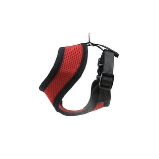 Red and Black Breathable Nylon Adjustable Dog Harness - Small
