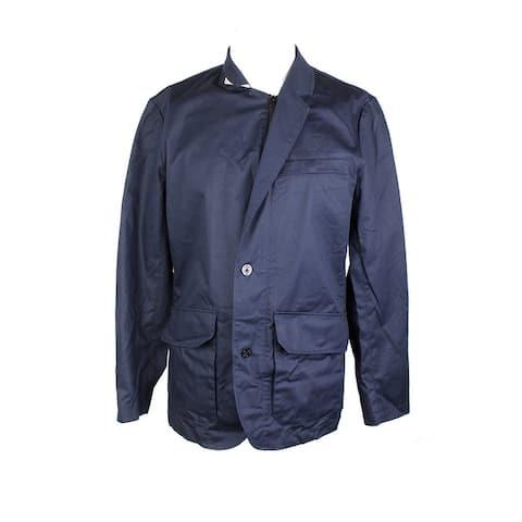 Nautica Navy Zip-Up Twill Blazer S