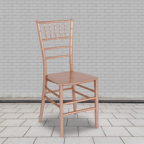 """2PK Stackable Resin Chiavari Chair - Banquet and Event Furniture - 15""""W x 18.75""""D x 35""""H"""