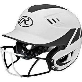 YCS Rawlings Velo Junior 2-Tone Home Softball Helmet with Mask -Black