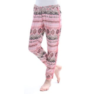 Womens Pink Tribal Lounge Pants Juniors Size M