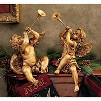 Design Toscano Trumpeting Angels of St. Peters Square: Set of Boy & Girl Angels