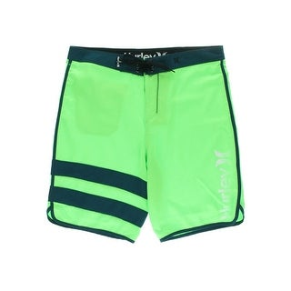 Hurley Mens Block Party Contrast Trim Graphic Board Shorts - 28