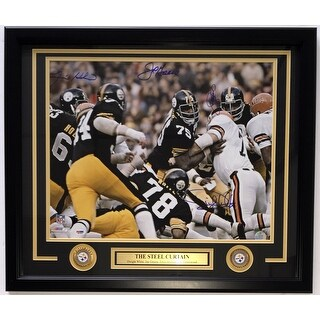 Pittsburgh Steelers Steel Curtain Signed & Framed 16x20 Photo 4 Signatures PSA