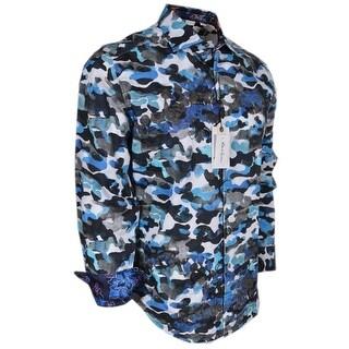 Robert Graham Classic Fit BLUE DE SKIES Camo Limited Edition Sport Shirt