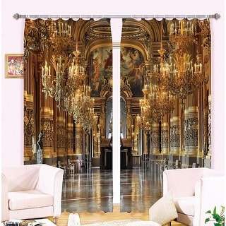 Luxury Design 3D European Cathedral Style Curtains 104W x 84L