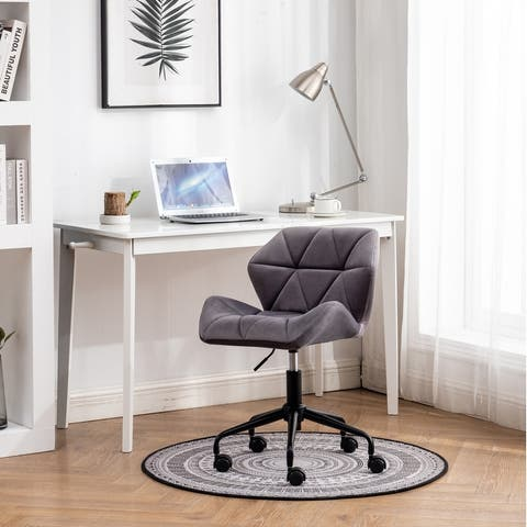 Eldon Diamond Tufted Adjustable Swivel Office Chair, Gray