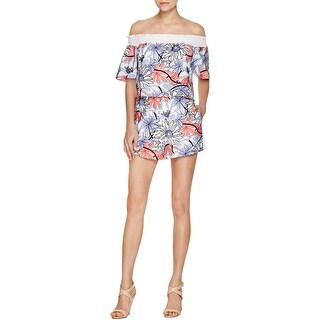 Parker Womens Romper Embroidered Popover