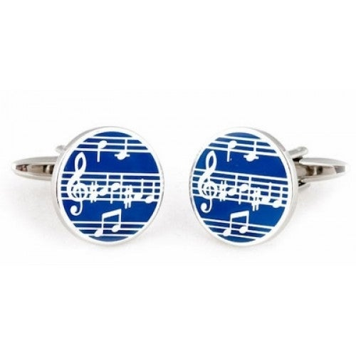 Music Notes Musician Cufflinks In Enamel