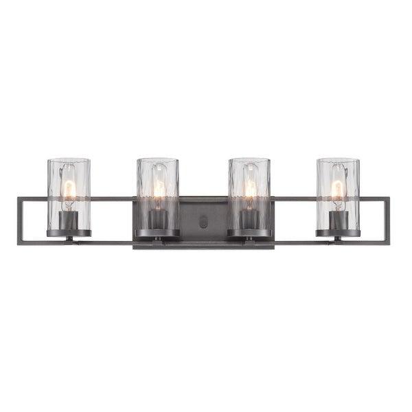 Designers Fountain 86504 Elements 4-Light Bathroom Vanity Light - charcoal