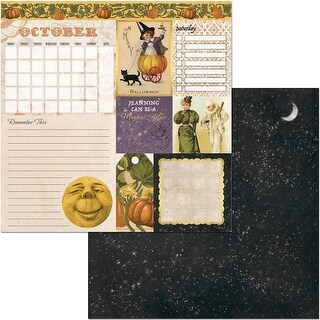 """Banner Year Double-Sided Cardstock 12""""X12""""-October"""