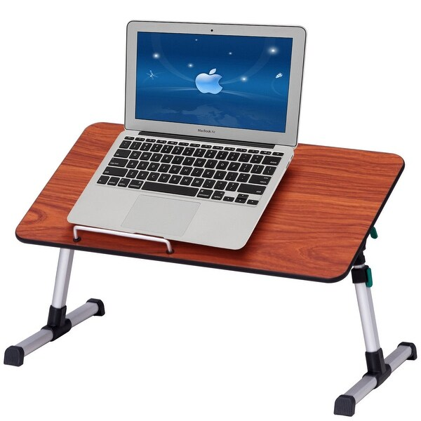 Beau Costway Portable Height Adjustable Laptop Bed Tray Table Standing Desk  Breakfast Tray