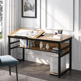 Link to Tribesigns 55 inches Drafting/Drawing/Painting Desk with Adjustable Tiltable Tabletop, Computer Desk Similar Items in Painting