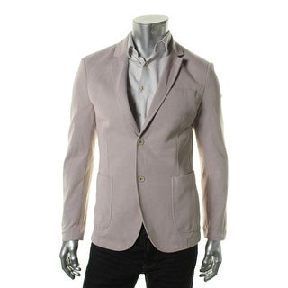 Zara Mens Knit Heathered Two-Button Blazer - 46