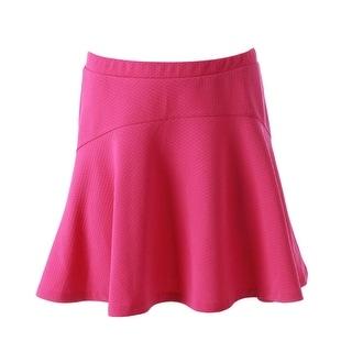 Aqua Womens Textured Mini A-Line Skirt - S