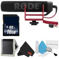 Rode VideoMic GO VIDEOMIC-GO + 16GB SDHC Class 10 Memory Card + Deluxe Cleaning Kit + Memory Card Wallet + Cloth Bundle