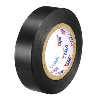 "PVC Electrical Insulating Tape Single Sided 21/32"" Width 49ft 6mil Black - 6 mil Thick, Black"