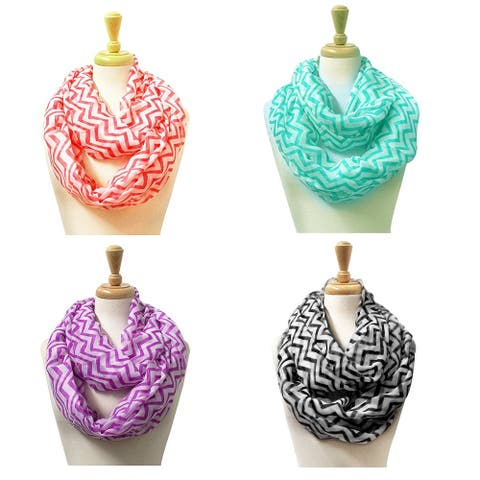 """Fashion Lightweight Scarves 4pc.Pack - 35"""" x 35"""""""