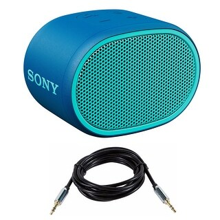 Sony XB01 Extra Bass Portable Bluetooth Speaker (Blue) with Accessory Bundle