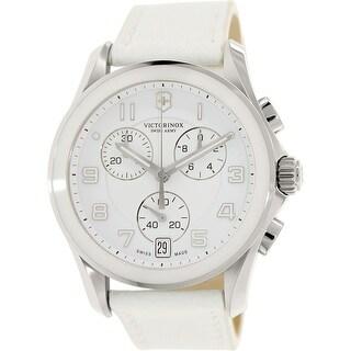 Victorinox Swiss Army Women's Classic 241500 White Leather Fashion Watch