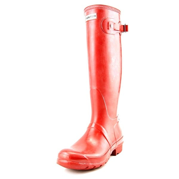 Hunter Original Tall Gloss Women Round Toe Synthetic Red Rain Boot