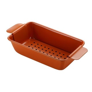 "Culinary Edge Ceramic Copper Pro Nonstick Bakeware 9"" X 5.5"" X 2.5"" Loaf Pan"