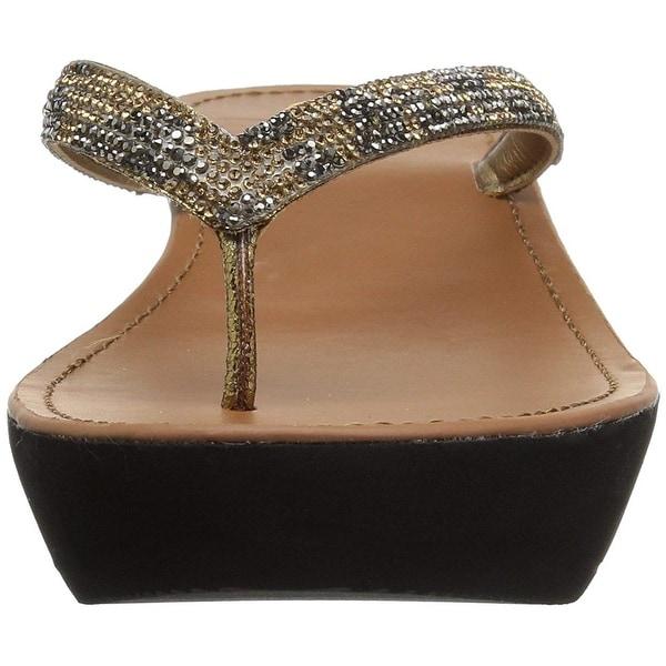 3f3f22ba9150 ... Women s Shoes     Women s Sandals. Kenneth Cole REACTION Women  x27 s Fine  Sun Gltizy Platform Thong Sandal Wedge