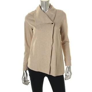 Kensie Womens Ponte Heathered Jacket