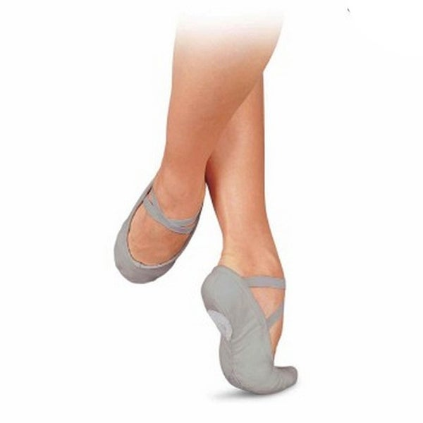 7833857d42894 Shop Sansha Women Grey Canvas Pro 1 Original Split Sole Ballet Slippers  2-17 Womens - Free Shipping On Orders Over $45 - Overstock - 25542552