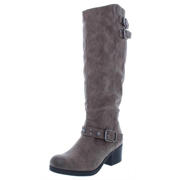 8dbbb6e039e Shop Carlos by Carlos Santana Womens Cara Mid-Calf Boots Buckle Faux ...