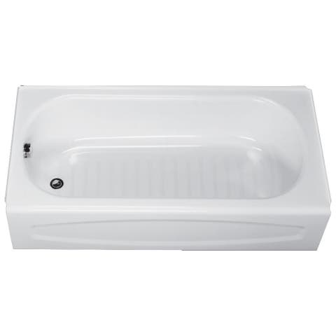 "American Standard 0255.212 New Salem 60"" Enameled Steel Soaking Bathtub with Left Hand Drain - White"