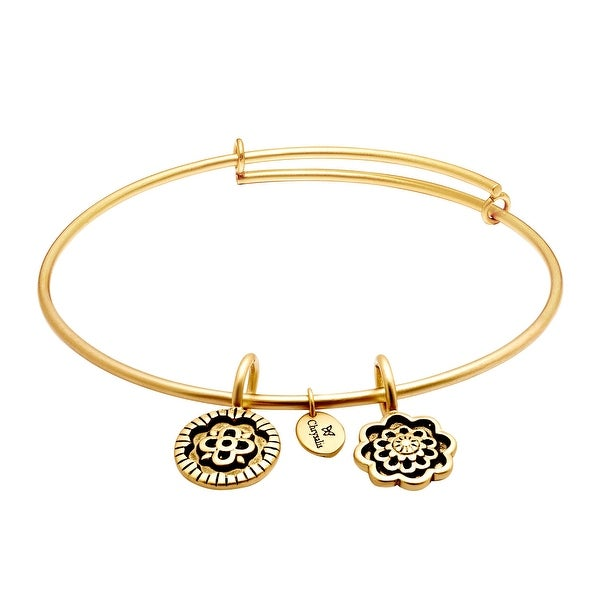 Chrysalis 'Happiness' Expandable Bangle in 14K Gold-Plated Brass - YELLOW