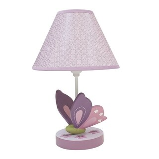 Lambs & Ivy Purple Butterfly Bloom Lamp with Shade & Bulb